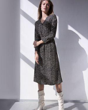 Платье миди с V-образным вырезом с поясом Emka