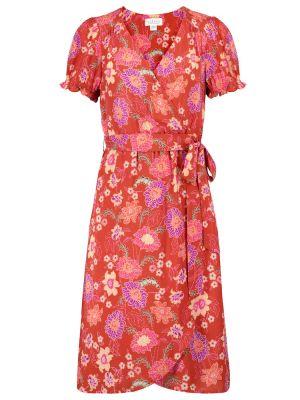Оранжевое бархатное платье в цветочный принт Velvet
