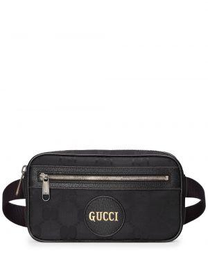 Pasek skórzany - czarny Gucci