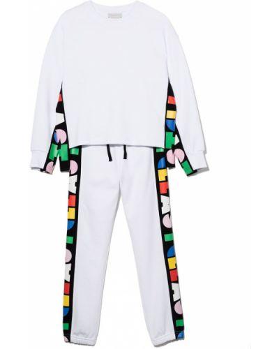 Biały dres bawełniany Stella Mccartney Kids