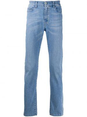 Niebieskie jeansy skorzane z paskiem Mjb Marc Jacques Burton