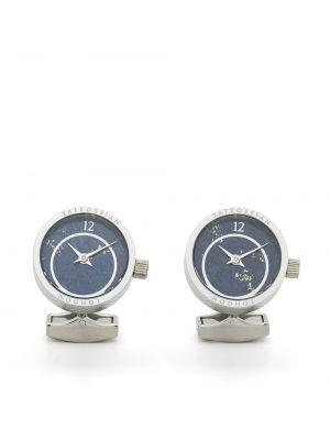 Niebieski zegarek srebrny Tateossian