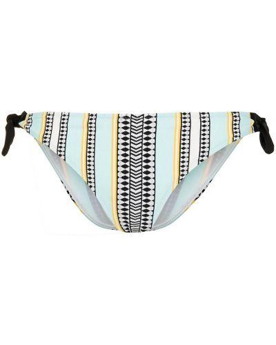 Синие пляжные плавки бикини с завязками Lemlem