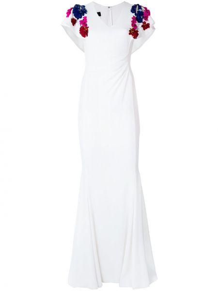 Приталенное вечернее платье - белое Talbot Runhof