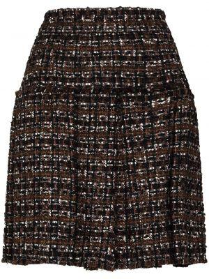 Bawełna pofałdowany czarny spódnica plisowana z alpaki Dolce And Gabbana