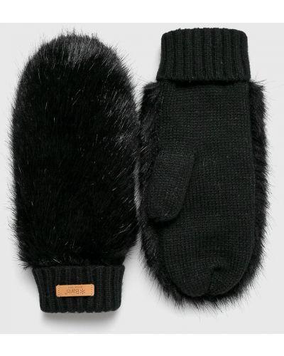 Черные перчатки текстильные Barts