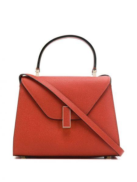 Кожаная оранжевая сумка-тоут Valextra