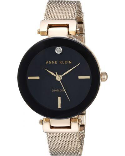 Кварцевые часы с бриллиантом с камнями Anne Klein