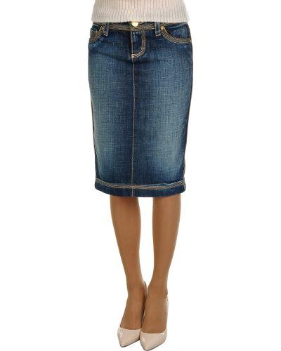 Хлопковая юбка - синяя Dsquared2