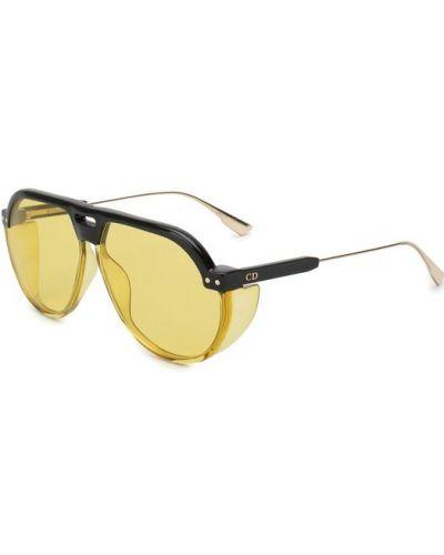 Желтые солнцезащитные очки Dior