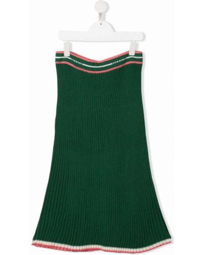 Zielona spódnica wełniana Marni Kids