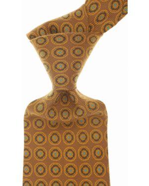 Żółty złoty krawat Ermenegildo Zegna