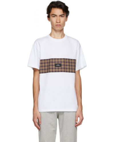 Белая рубашка с коротким рукавом с воротником с заплатками с короткими рукавами Rassvet