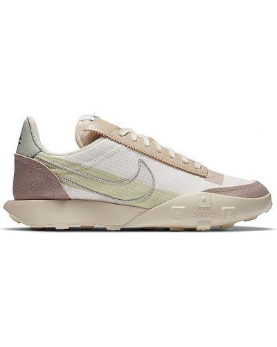 Zamsz ażurowy zielony sneakersy na sznurowadłach Nike