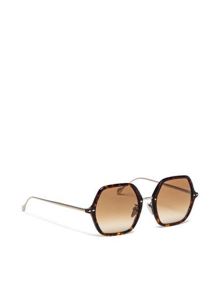 Brązowe okulary Isabel Marant