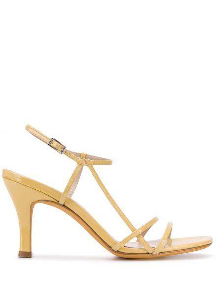 Sandały skórzany z klamrami Maryam Nassir Zadeh