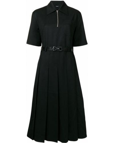 Платье миди расклешенное - черное Goen.j