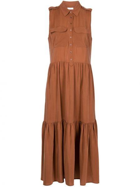 Платье миди с воротником без рукавов классическое Equipment