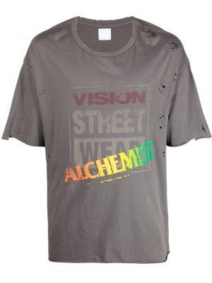 Czarny t-shirt bawełniany krótki rękaw Alchemist