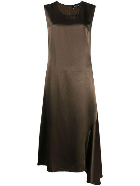 Асимметричное зеленое платье миди без рукавов с вырезом Andrea Ya'aqov