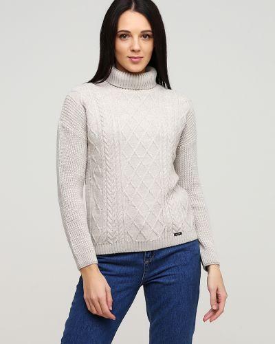 Бежевый свитер с высоким воротником Auden Cavill