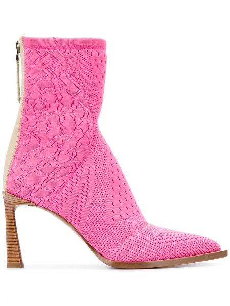 Ботинки на каблуке без каблука с острым носком Fendi