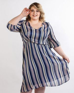 Шифоновое платье - синее Jetti-plus