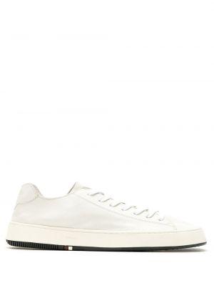 Кожаные белые кеды на шнуровке Osklen