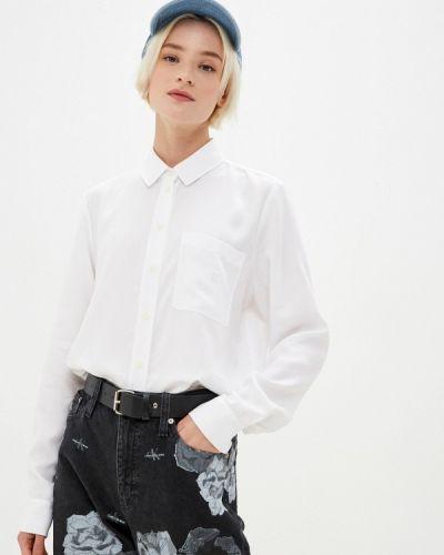 С рукавами белая джинсовая рубашка Calvin Klein Jeans