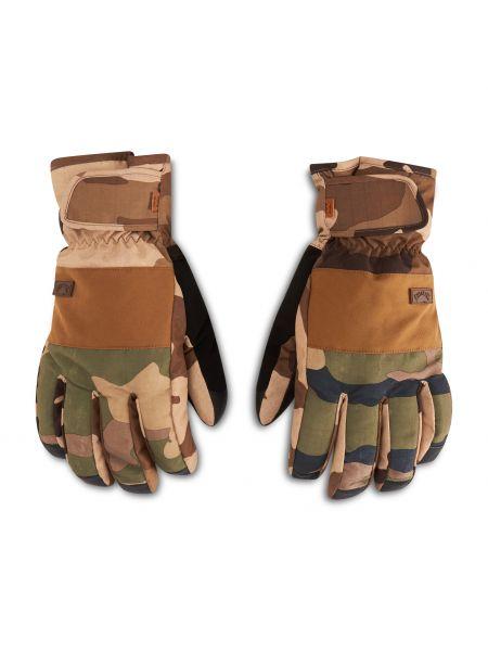 Brązowe rękawiczki narciarskie Billabong