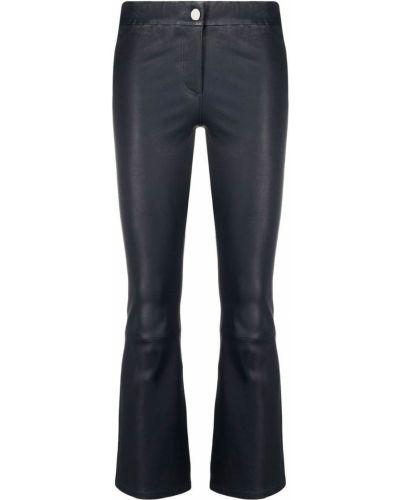Расклешенные синие кожаные брюки Arma