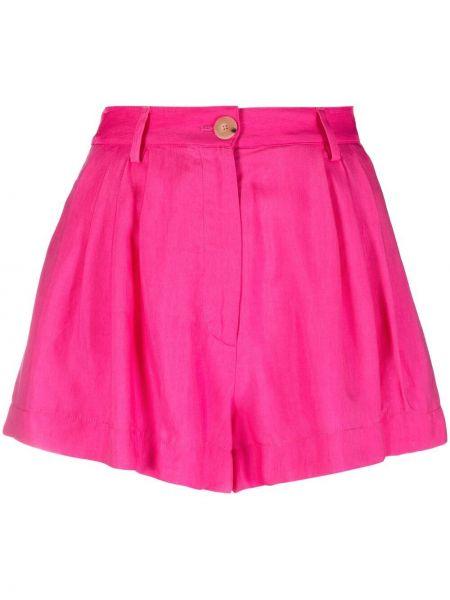 Хлопковые розовые с завышенной талией шорты Forte Forte
