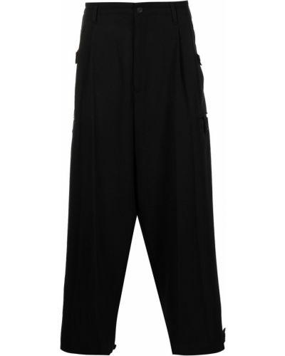 Czarne spodnie z paskiem Yohji Yamamoto