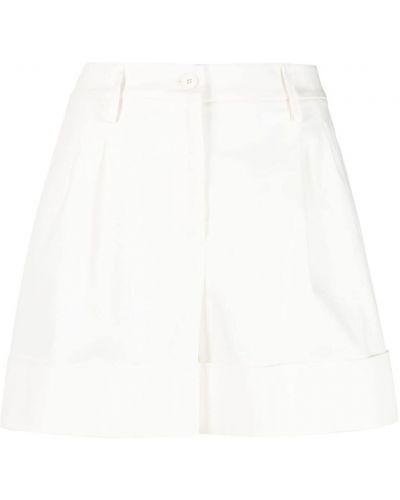 Хлопковые белые с завышенной талией шорты Fay