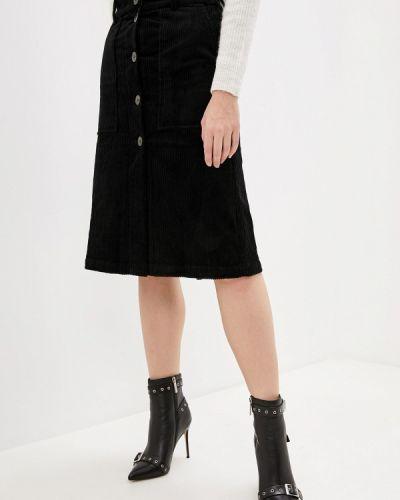 Юбка черная широкая Selected Femme