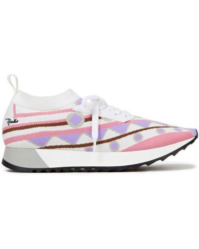 Sneakersy sznurowane koronkowe Emilio Pucci
