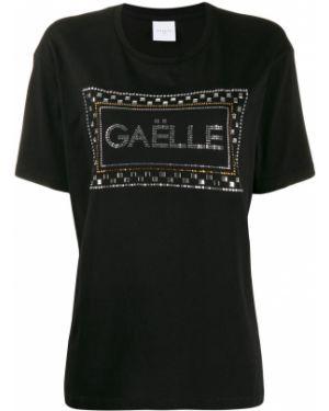 Хлопковая футболка - черная Gaelle Bonheur