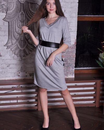 Платье с поясом с V-образным вырезом с вырезом Lovitton