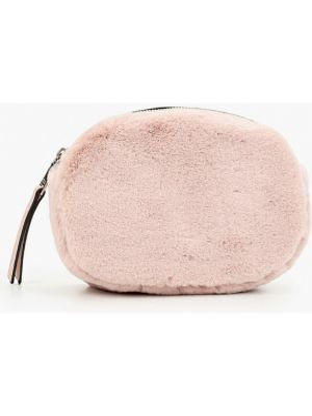 Кожаная поясная сумка - розовая Keddo