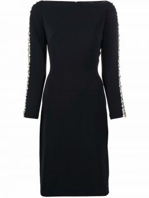 Черное платье макси с длинными рукавами Jenny Packham