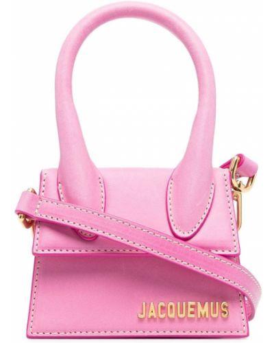 Różowa torba na ramię skórzana Jacquemus
