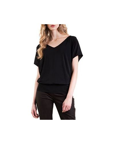 Черная блузка Luisa Spagnoli