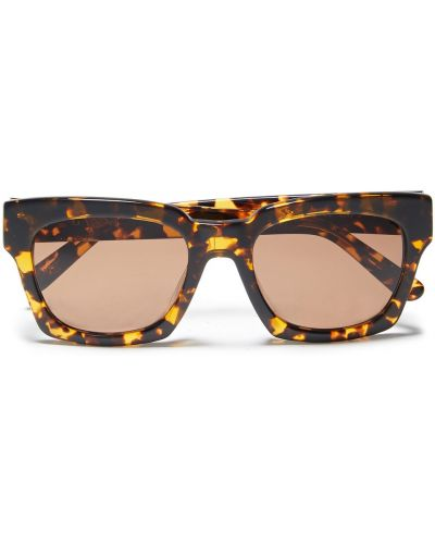 Etui na okulary z printem - brązowe Ganni