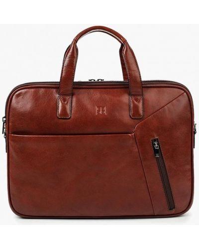 Коричневая кожаная сумка Sergio Belotti