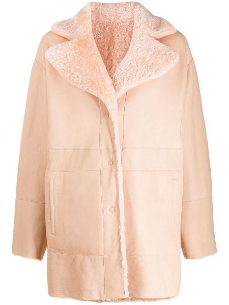 Пальто из овчины - розовое Drome