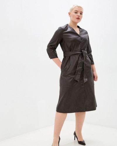 Кожаное платье - коричневое Ostin