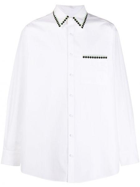 Koszula z długim rękawem długa z łatami Valentino