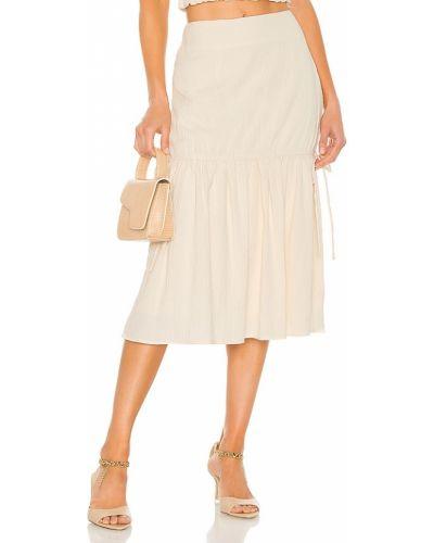 Бежевая юбка на резинке винтажная Line & Dot