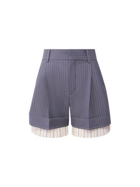 Шелковые шорты - синие Chloé