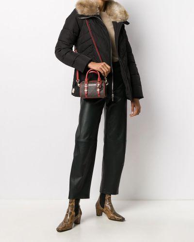 Акриловая черная куртка на молнии с перьями Michael Michael Kors